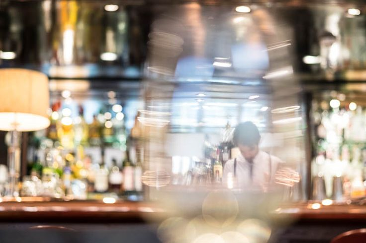 Looking through the glass in the Quo Vadis bar