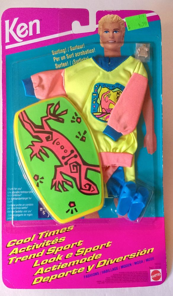 1993 BARBIE KEN Cool Times Surfing!  Surfboard & Acessories NOS BRAND NEW #Mattel #ClothingShoes