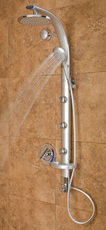 Pulse ShowerSpa Bonzai Silver Shower Panel 1017 S $284.25