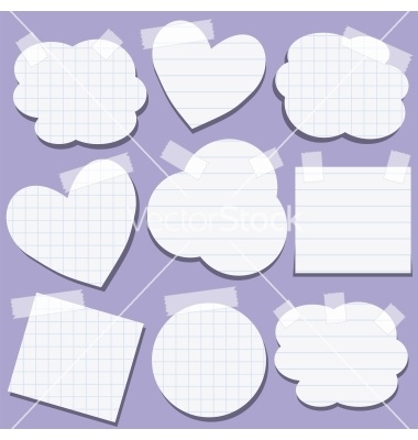 Set of paper stickers with tape vector 843678 - by darafeja on VectorStock®