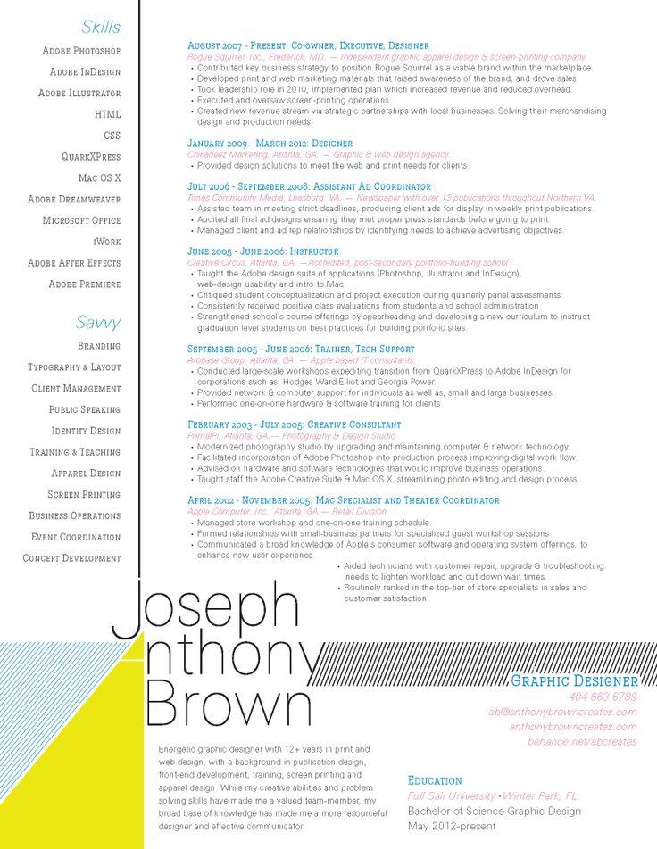 Minimalist Resume Design | Designarium | Pinterest