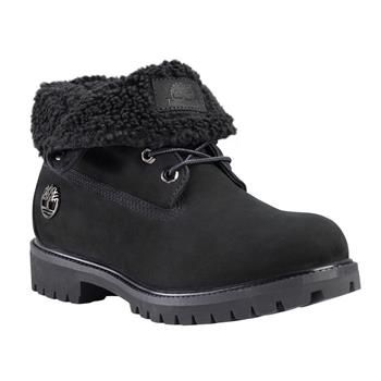 Timberland - Boots Icon Roll Top Leather And Fabric Homme - Black Nubuck