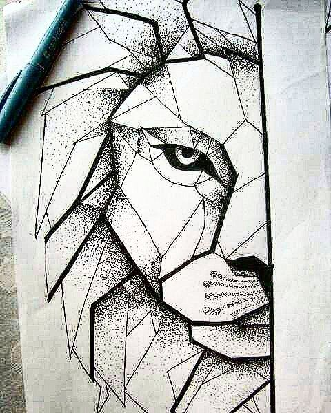 The next one..! #geometric #lion #tattoo #next #one #before #australia