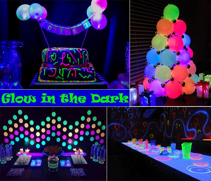 Glow-in-the-Dark Theme Party