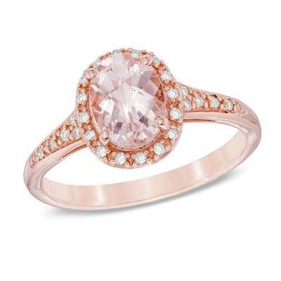 Oval+Morganite+and+Diamond+Accent+Ring+in+14K+Rose+Gold