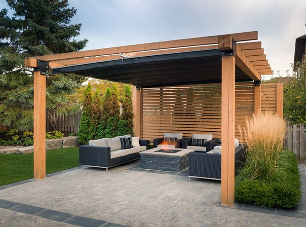 To maximize everyday use of this outdoor space pro land for Small patio shade ideas