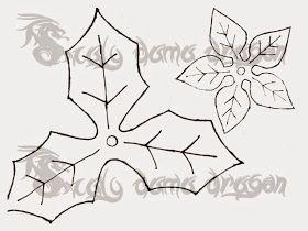 Flor de Pascua | Nochebuena | hecha de Foamy, Goma eva (tecnica termofor...