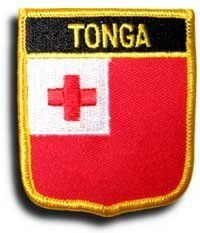 "Tonga - Country Shield Patches by Flagline.com. $2.75. 2.5"" x 2.75"" Shield Patch. Our shield patches feature each country's flag below the name, and can be sewn on or ironed on. Actual size is approximately 2.5"" x 2.75"". (""Flagline.com"" does not appear on the item.). Save 30%!"