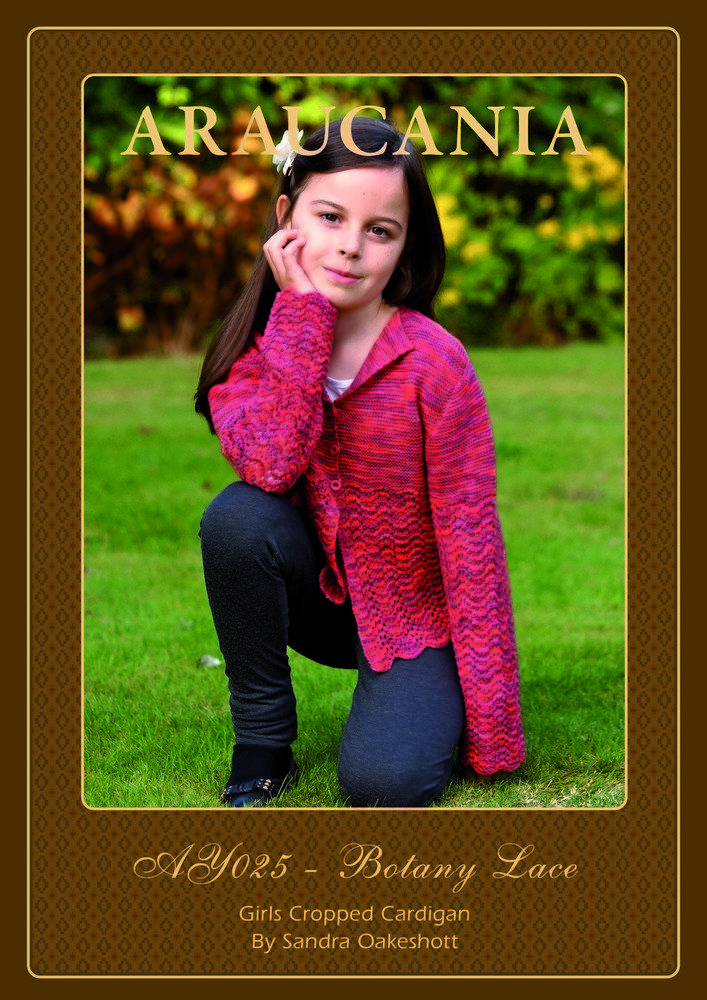 Girls Cropped Cardigan in Araucania Botany Lace - . Discover more Patterns by Araucania at LoveKnitting. The world