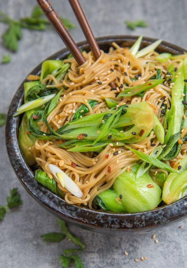 15 minute sesame ginger noodles (vegan)