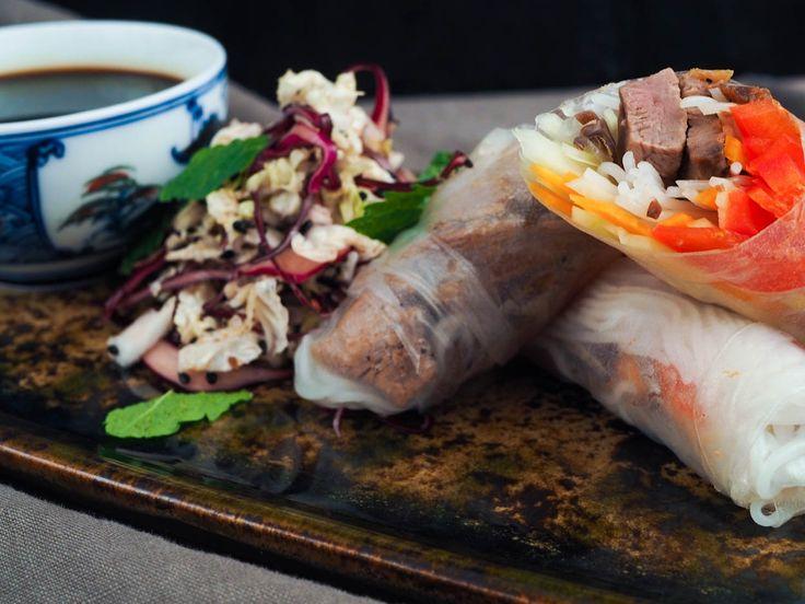 Kachní rolky se zelným salátem a kaeshi | Oh My Chef