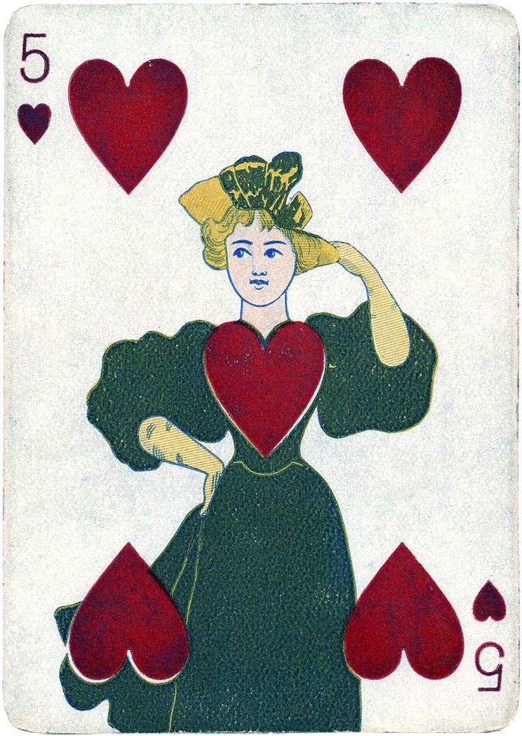 Antique Playing Card Images - Graphics Fairy