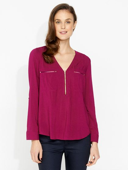Zip on blouse Portmans