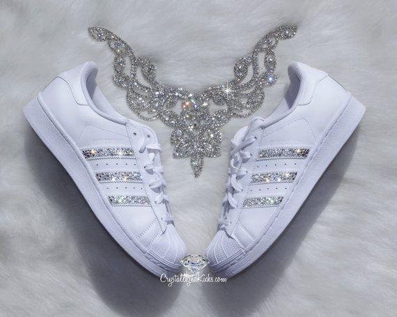 Vorschule Adidas Originals Superstar gemacht mit Kristallen
