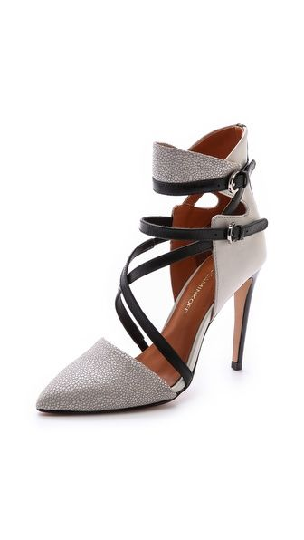 Rebecca Minkoff Raz High Heel Point Toe Pumps - I'm not one to wear pointy ankle heels but these are hot