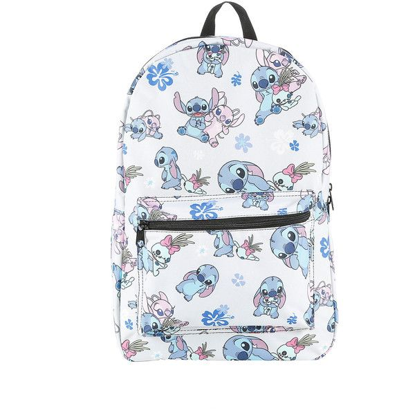 Disney Lilo Stitch Stitch Scrump Angel Backpack Hot Topic ($35) ❤ liked on Polyvore featuring bags, backpacks, accessories, backpacks bags, knapsack bags, zipper bag, print bags and rucksack bag