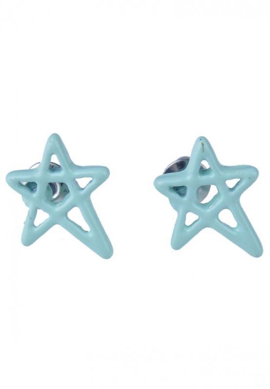 Pentagram/Ster Mint Groen Oorbellen bij Trendy Goodies - € 2,50