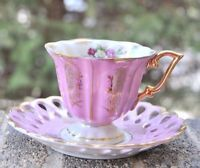 Vintage Sterling China Made In Japan Tea Cup and Saucer - Gold Trim