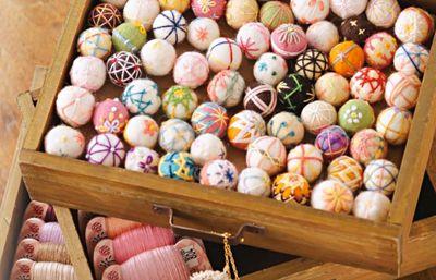 embroidery on felt balls