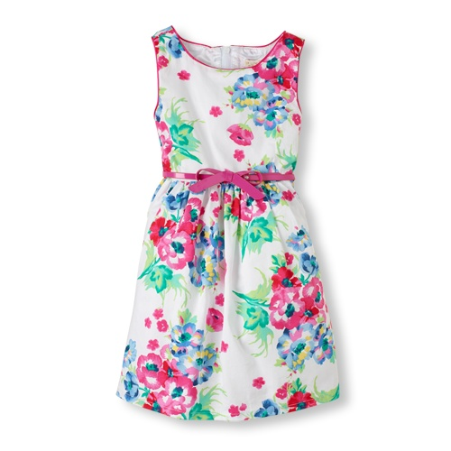 floral belted dress / the children's place