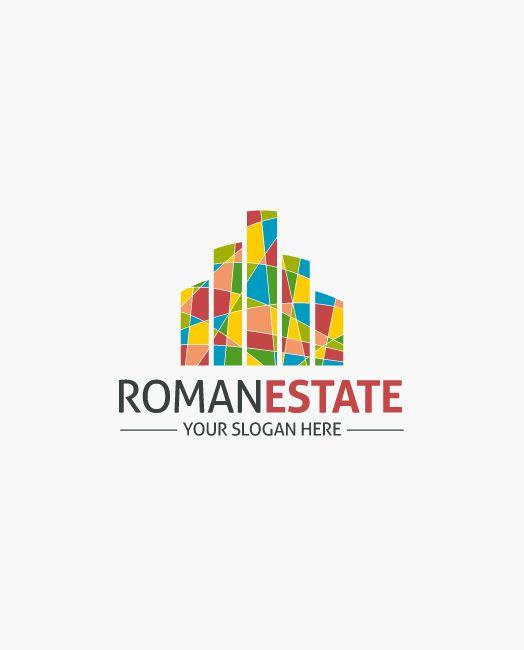 Logo Immobilien bunt