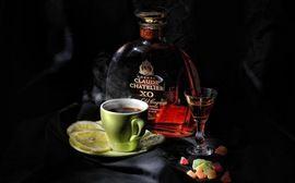 Изображение Натюрморт, Лимон, Коньяк, Рюмка, Кофе, Темный Фон. Еда и Напитки | Фабрика картинок - PicsFab.com. Обои для рабочего стола