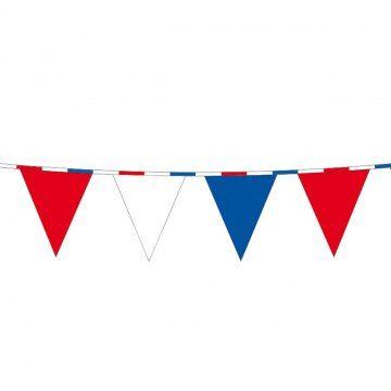 Vlaggenlijn rood wit blauw.
