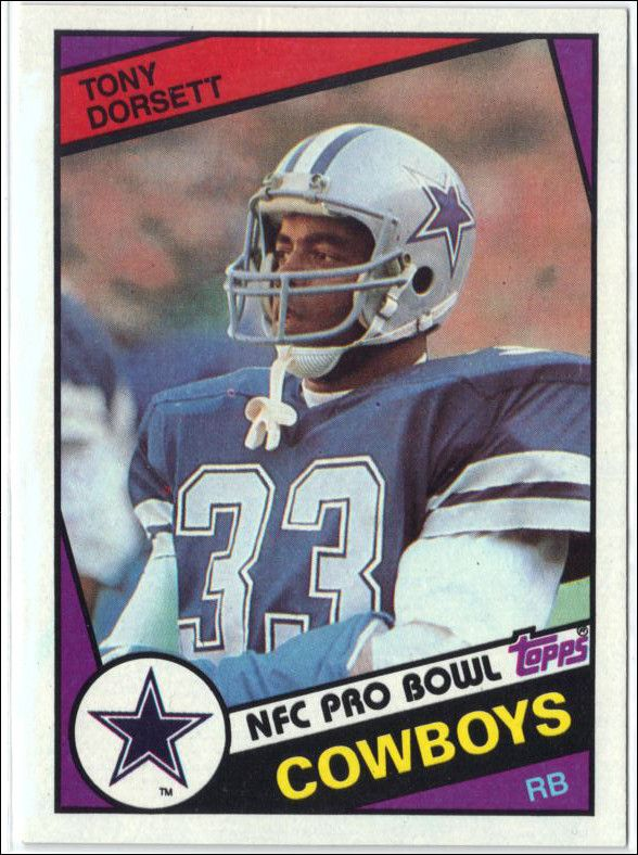 Before there was Emmitt Smith, there was Tony Dorsett! 1984 Topps #238 TONY DORSETT Dallas Cowboys, Running Back! RAW GRADED 8.8 NM-MT+ by C&C SCORE BREAKDOWN: * The Images you see are from the Actual