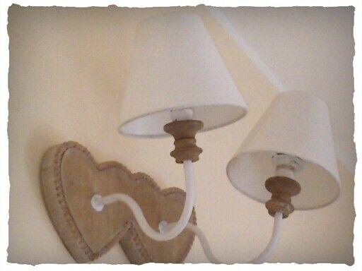 Shabby chic Lamp / aplique