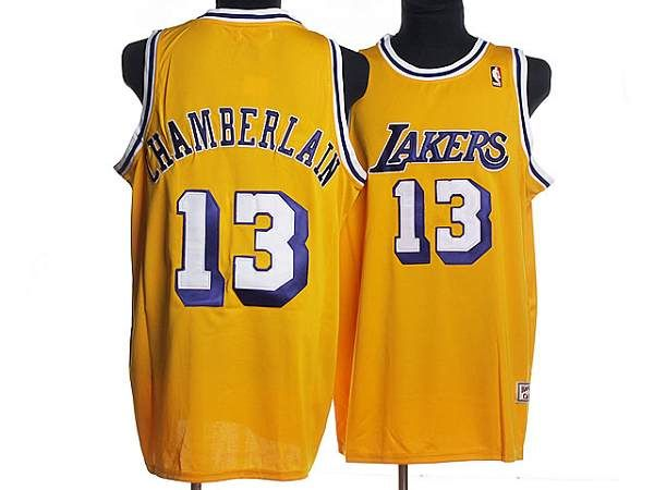Mitchell and Ness Lakers  13 Wilt Chamberlain Stitched Yellow Throwback NBA  Jersey 592d5e9b7