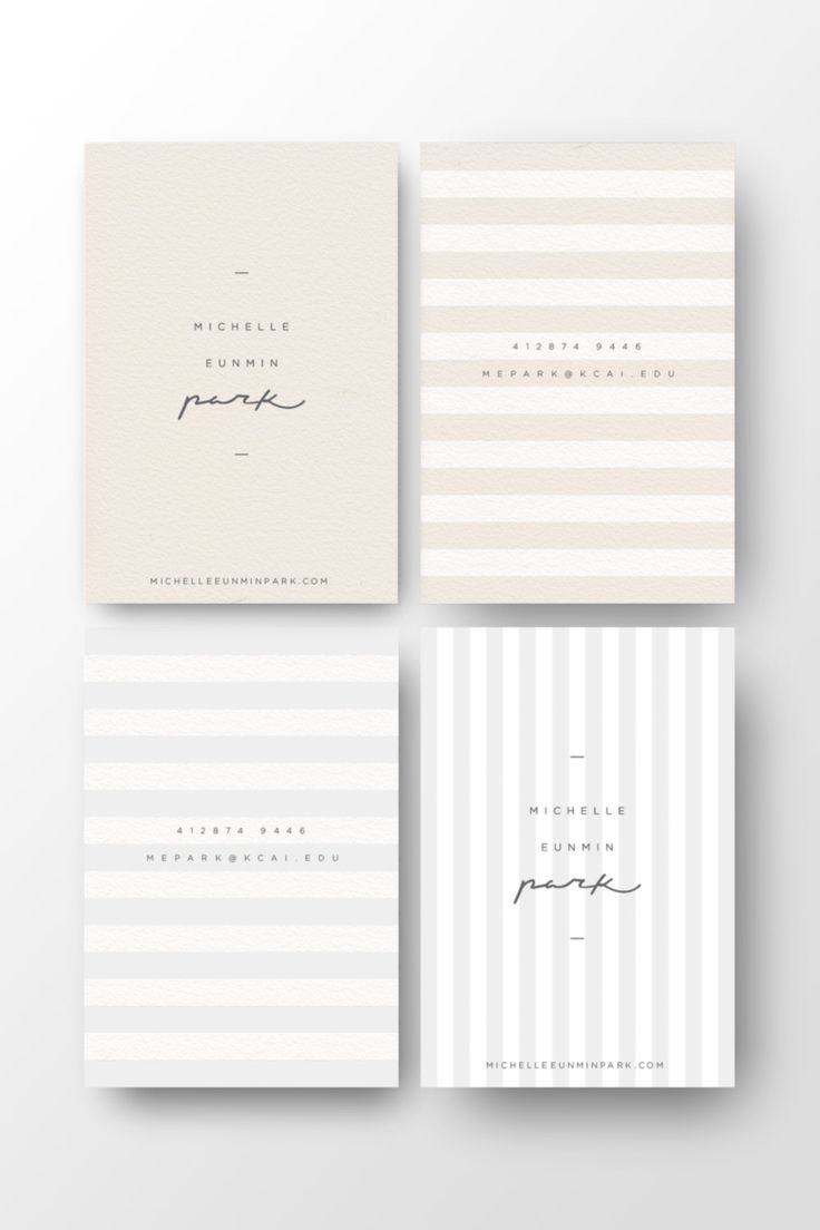 Obsessed with the simplicity of the card... Michelle Eunmin Park business card