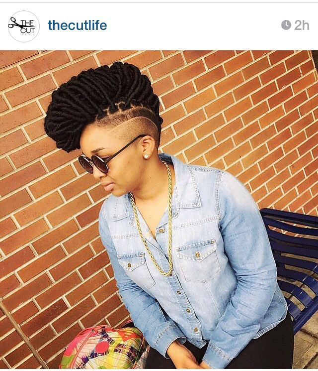 Edgy natural hair style and cut! Dope!
