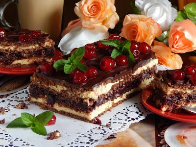 W królestwie smaków Beaty: Ekspresowe ciasto wiśniowe