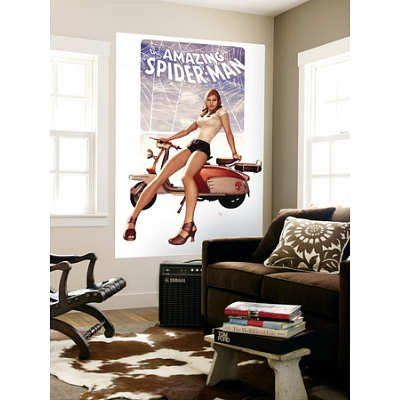 (48x72) Adi Granov - The Amazing Spider-Man No.602 Cover: Mary Jane Watson Huge Wall Mural @ niftywarehouse.com #NiftyWarehouse #Spiderman #Marvel #ComicBooks #TheAvengers #Avengers #Comics
