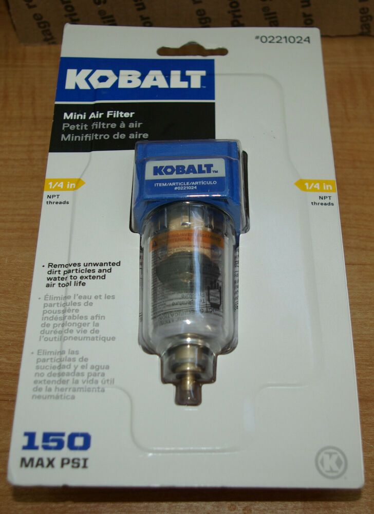 """Twin Air Filter With Regulator Trap 1//4/"""" NPT In-line Air Compressor Water New"""