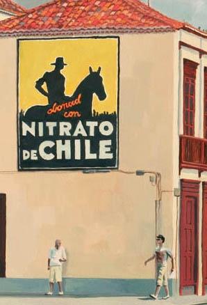 PINTURA-  Manu Marzan. Pintor y diseñador gráfico. Imagen: Recorte de la obra Nitrato de chile
