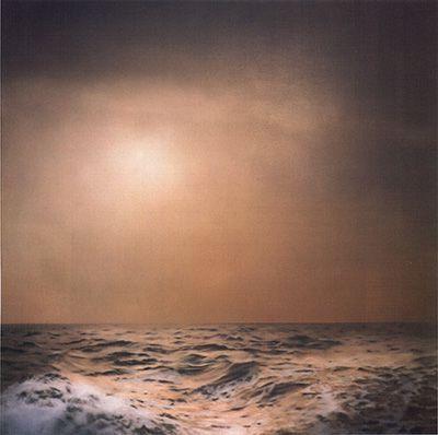 """Gerhard Richter ~ """"Marine (brun, trouble)"""" ~ Huile sur Toile (170 x 170 cm)"""