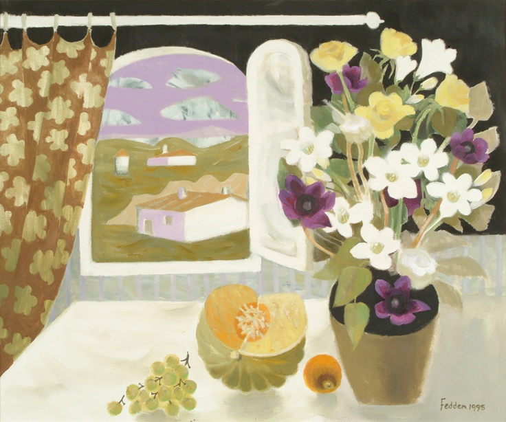 Mary Fedden 1995 Oil on Canvas 30 x 36 inches