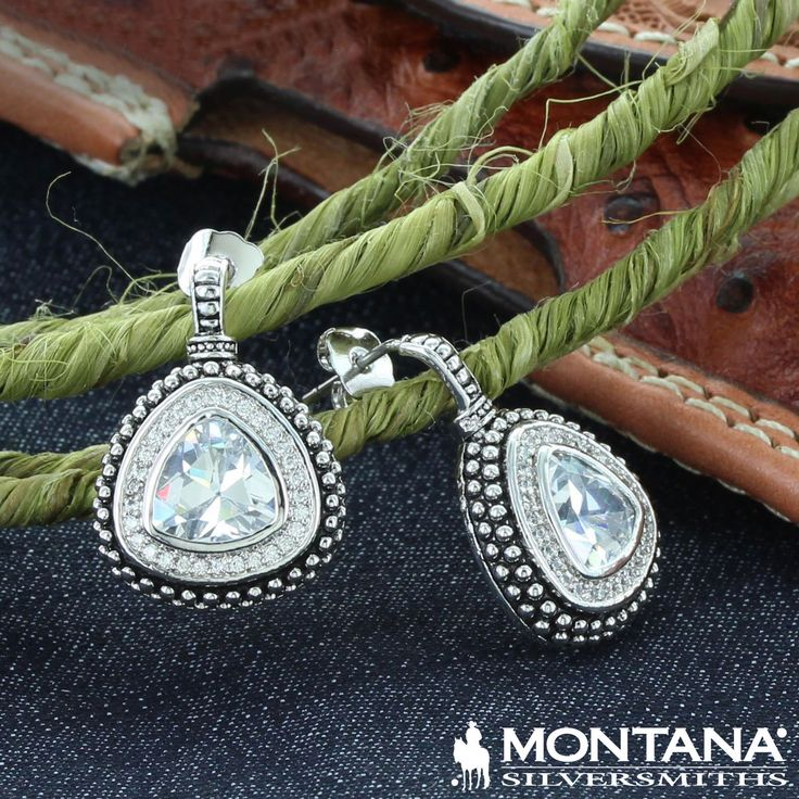 Western Drop Rounded Triangle Earrings (ER1197) by Montana Silversmiths #cowgirlbling #westyourway