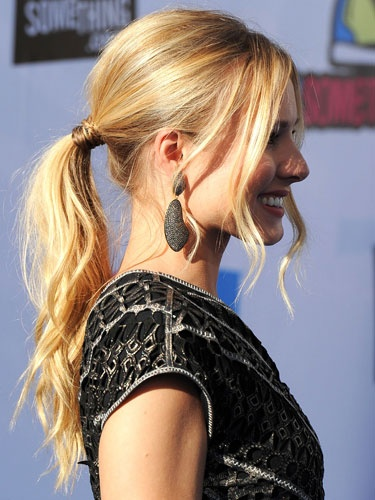 Dressy ponytail....with a little more poof