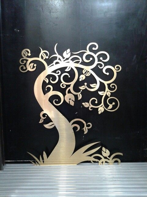 Golden mirror acrylic cutting.