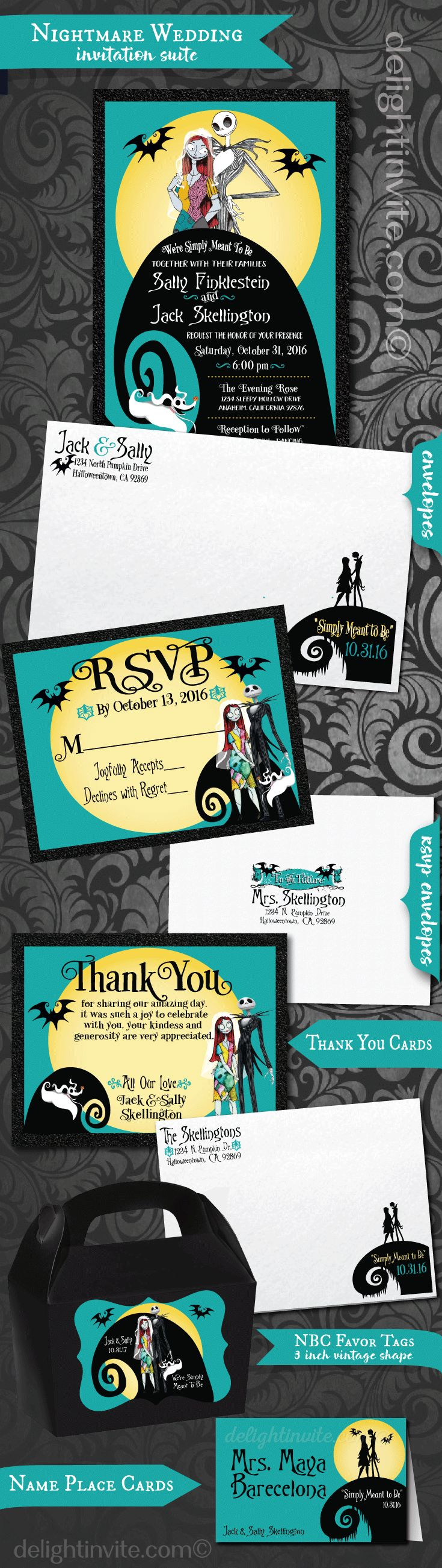 Best 25+ Nightmare before christmas wedding ideas on Pinterest ...