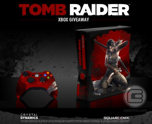 Limited Edition Tomb Raider Xbox 360 Console From Crystal Dynamics :D