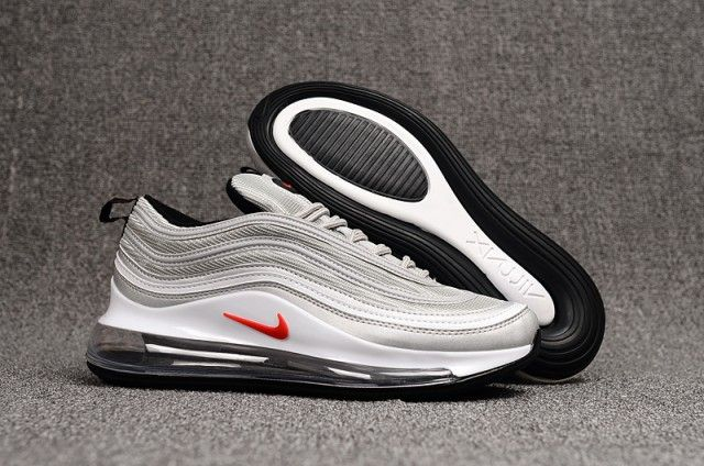 Nike Air Max 97 720 Tpu Silver Red White Womens Men's ...