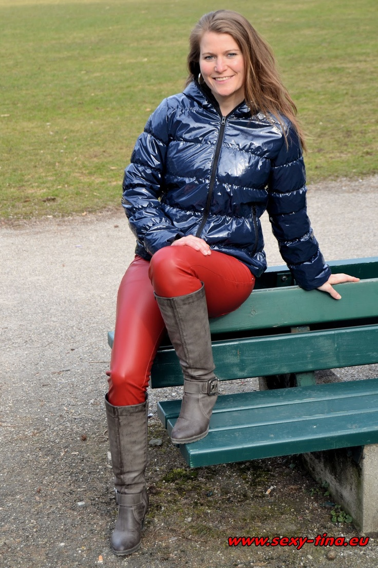 Tina Wearing Red Leather Pants Lady In Red Lack