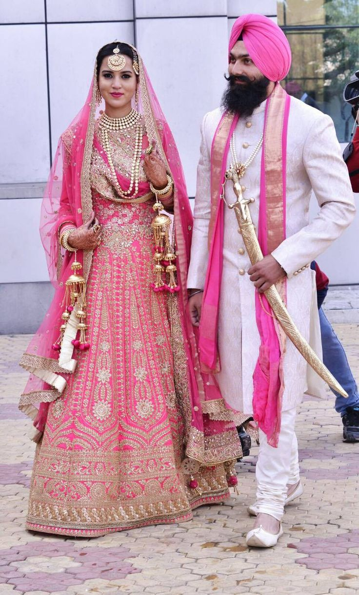 Sikh Fashion Sikh Wedding Urban Sardar - Pink is such an elegant color