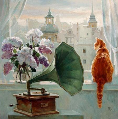 Кошки в искусстве. Солнечность Марии Павловой. - Ярмарка Мастеров - ручная работа, handmade