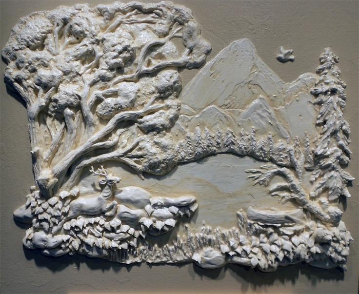 Wall Sculpture Art Plaster - Elitflat