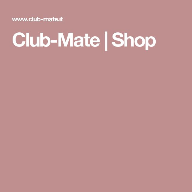 Club-Mate | Shop
