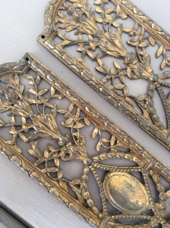 Superb Pair Genuine Antique EDWARDIAN Cast Gilt Bronze Door Push Finger  Plates - 17 Best Antique Door Finger Plates Images On Pinterest Antique